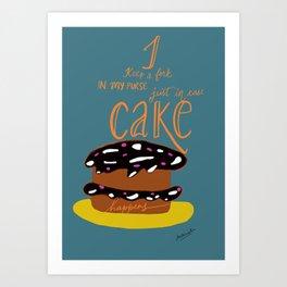 Cake Lover Quote Art Print