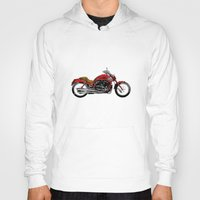 motorcycle Hoodies featuring Motorcycle by magnez2