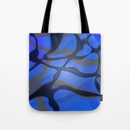 Retro 80s Glossy Abstract Fierce Lines Tote Bag