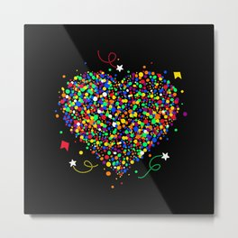 Love made of colorful dots Metal Print