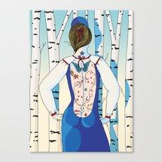 Russian beauty Canvas Print