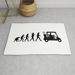 Evolution - golf  black&white Rug