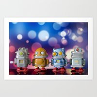 robots Art Prints featuring Robots by Pedro Nogueira