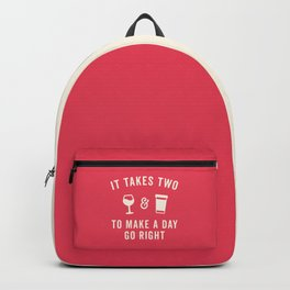 Wine & Coffee Funny Quote Backpack