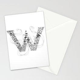 "Zenletter ""W"" Stationery Cards"