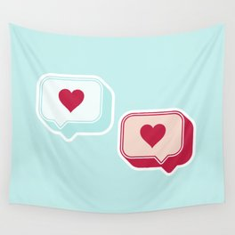 Heart Chats Wall Tapestry