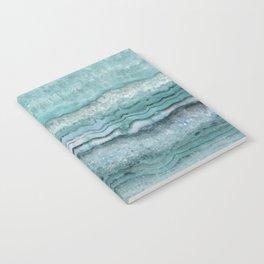 Mystic Stone Aqua Teal Notebook