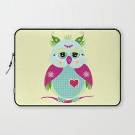 Purple Owl Laptop Sleeve