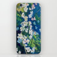 cherry blossoms iPhone & iPod Skins featuring Cherry Blossoms by Michael Creese