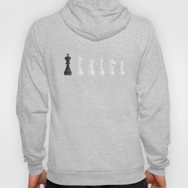 All white one black chess pieces Hoody