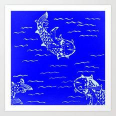 Happy fish -2 Art Print