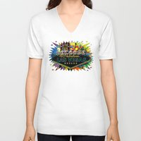 las vegas V-neck T-shirts featuring Welcome to Las Vegas by Gary Grayson
