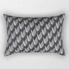 Just Grate Abstract Pattern With Heather Background Rectangular Pillow