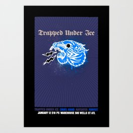 Trapped Under Ice Art Print