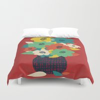 matisse Duvet Covers featuring Paper Flowers by Picomodi