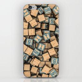 Binary blocks iPhone Skin