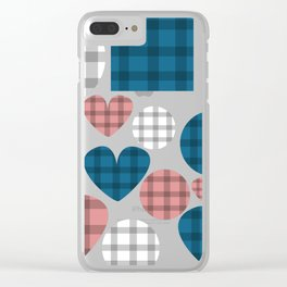LIGHT N EASY COUNTRY GINGHAM CHECK Clear iPhone Case