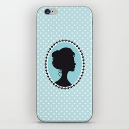 Blue cameo iPhone Skin