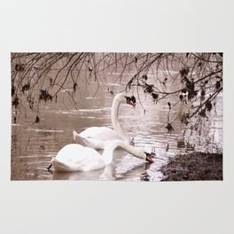 Swans friendship Rug