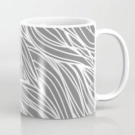 Gray Wave Lines Coffee Mug