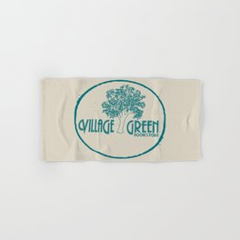 Village Green Bookstore Green on Tan Hand & Bath Towel