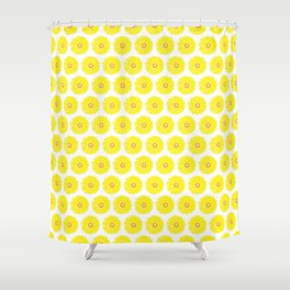 Yellow Gerbera Daisies Illustrated Print Shower Curtain