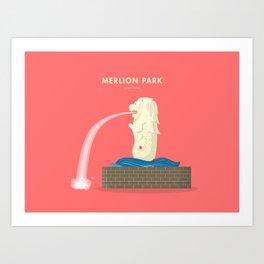 Merlion Park, Singapore [Building Singapore] Art Print