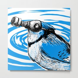 Trash Birds - Water Pollution Metal Print
