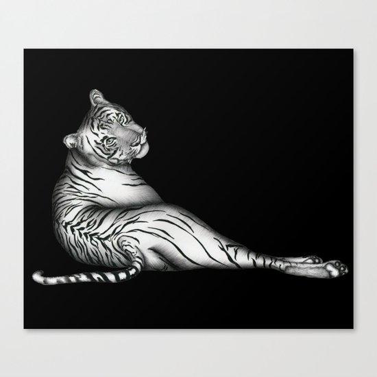 The Hunter in Black Canvas Print