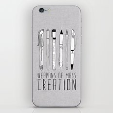Weapons Of Mass Creation (on grey) iPhone & iPod Skin