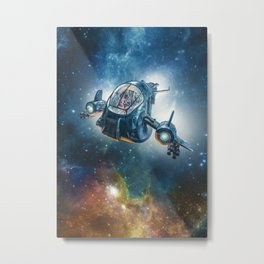 The Scout Ship Metal Print