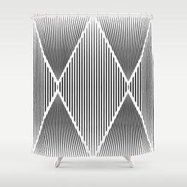 Folded Black Shower Curtain