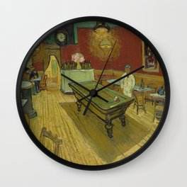 "Vincent van Gogh ""Le café de nuit (The Night Café)"" Wall Clock"