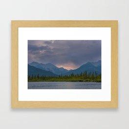 Sunset Range - Banff Framed Art Print