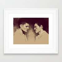 destiel Framed Art Prints featuring Destiel. I see Darkness by Armellin
