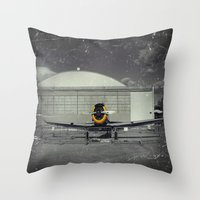 mustang Throw Pillows featuring Mustang by Jorgenson Art Syndicate