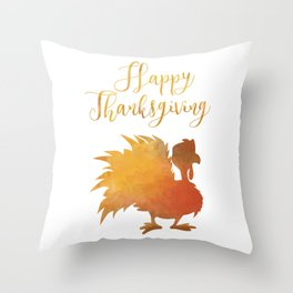 Happy Thanksgiving Turkey Minimal Abstract Throw Pillow