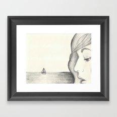 Away at Sea Framed Art Print