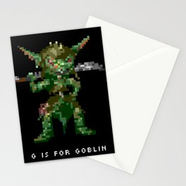 G is for Goblin Stationery Cards