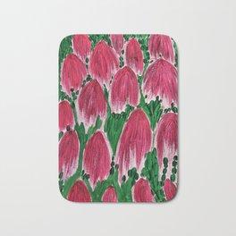 Upside-Down Tulips Bath Mat