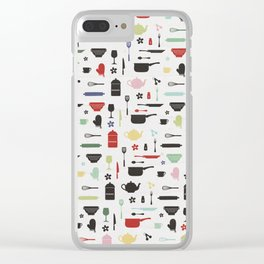 Retro Kitchen Clear iPhone Case