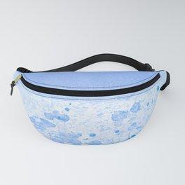 Rain Drop Blue Fanny Pack