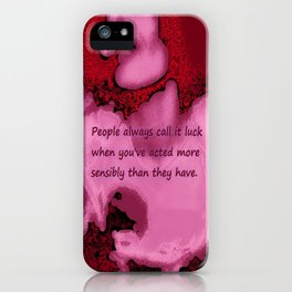 Call It Luck iPhone Case