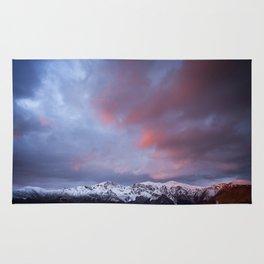 Sunrise over Triglav peak Rug