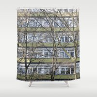 germany Shower Curtains featuring Berlin Germany by Sanchez Grande