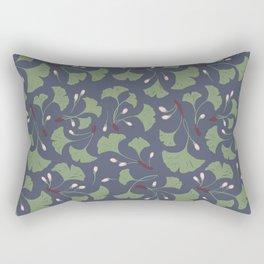 Ginko Leaves Pattern Rectangular Pillow