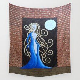Moonlight held her breast Wall Tapestry