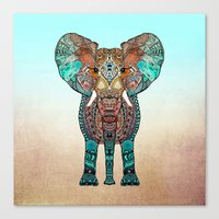 monika strigel Canvas Prints featuring ElePHANT by Monika Strigel