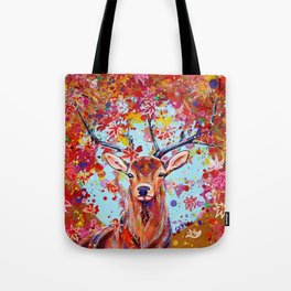 Autumn Herald - Deer Stag Fantasy Painting Tote Bag