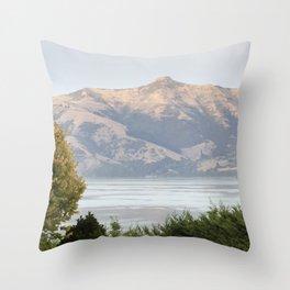 Hills of Akaroa Throw Pillow